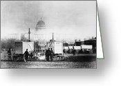 Cities Greeting Cards - Civil War: Gas Generators Greeting Card by Granger