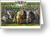 Forrest  Greeting Cards - Civil War Generals and Statesman Greeting Card by War Is Hell Store