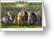 General Jackson Greeting Cards - Civil War Generals and Statesman With Names Greeting Card by War Is Hell Store
