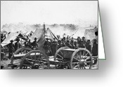 Peninsular Greeting Cards - Civil War: Howitzer Gun Greeting Card by Granger