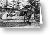 Commission Greeting Cards - Civil War: Military Hospital Greeting Card by Granger