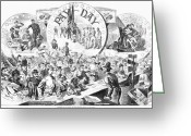 Winslow Homer Greeting Cards - Civil War: Pay Day, 1863 Greeting Card by Granger
