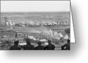 Peninsular Greeting Cards - Civil War: Union Camp, 1862 Greeting Card by Granger