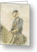 Regiment Greeting Cards - Civil War Union Cavalry Trooper Greeting Card by Randy Steele