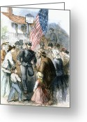 Amputee Greeting Cards - Civil War: Veteran, 1867 Greeting Card by Granger