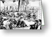 Peninsular Greeting Cards - Civil War: Wounded, 1862 Greeting Card by Granger