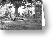 Mathew Greeting Cards - Civil War: Wounded Greeting Card by Granger