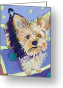 Pet Portraits Greeting Cards - Claire Greeting Card by Pat Saunders-White            