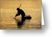 Martha Greeting Cards - Clamming Greeting Card by John Greim