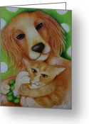 Deb Harvey Greeting Cards - Clara and Lucy Greeting Card by Deb Harvey