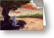 Cliff Painting Greeting Cards - Clarissa Greeting Card by Ethan Harris
