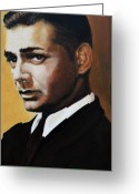 Academy Award Greeting Cards - Clark Gable Greeting Card by Shirl Theis