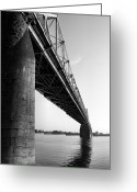 Landscape Framed Prints Greeting Cards - Clark Memorial Bridge II Greeting Card by Steven Ainsworth