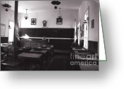 Historic Furniture Greeting Cards - Class Room Inside View Calico California Greeting Card by Susanne Van Hulst