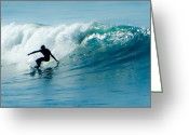 Surf Art La Jolla Digital Art Greeting Cards - Classic Backside Left Greeting Card by David Rearwin