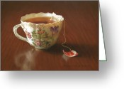 Tea Pastels Greeting Cards - Classic Blend Greeting Card by Barbara Groff