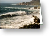 Vistas Greeting Cards - Classic California Surf Greeting Card by Norman  Andrus