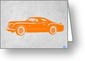 Funny Car Greeting Cards - Classic Car 2 Greeting Card by Irina  March