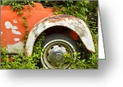 Old Volkswagen Car Greeting Cards - Classic Car Forgotten Greeting Card by Carolyn Marshall