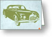 Old Paper Greeting Cards - Classic Car Greeting Card by Irina  March
