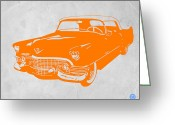 Funny Car Greeting Cards - Classic Chevy Greeting Card by Irina  March