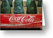 Coke Greeting Cards - Classic Coke Greeting Card by David Lee Thompson