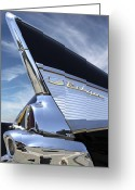 Hot Rod Greeting Cards - Classic Fin Greeting Card by Mike McGlothlen