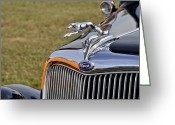 Ford V8 Greeting Cards - Classic Ford V8 Hood Ornament Greeting Card by Carolyn Marshall