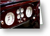 Clocks Digital Art Greeting Cards - Classic Gauges Greeting Card by Jason Abando