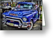 Chrome Grill Greeting Cards - Classic GMC Greeting Card by Perry Webster