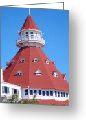 Susan Stevens Crosby Greeting Cards - Classic Hotel del Coronado Greeting Card by Susan Stevens Crosby