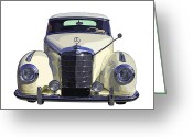 Mercedes Benz 300 Sl Classic Car Greeting Cards - Classic Mercedes Benz 300 Canvas Gallery Wrap Car Poster Print Greeting Card by Keith Webber Jr