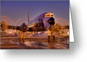 Plane Greeting Cards - Classic Ride Greeting Card by William Wetmore