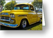 Truck Shows Greeting Cards - Classic Shine Greeting Card by Tyra  OBryant