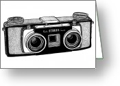 Stereo Greeting Cards - Classic Stereo Camera Greeting Card by Karl Addison