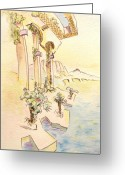 Bright Drawings Greeting Cards - Classic Summer Morning Greeting Card by Dave Martsolf