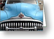 Collectors Car Greeting Cards - Classic Super Eight Grille 7d15155 Greeting Card by Wingsdomain Art and Photography