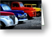 Red Car Greeting Cards - Classics Greeting Card by Perry Webster
