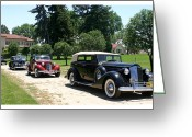 1937 Packard 12 1508 Convertible Sedan Greeting Cards - Classy Classics Greeting Card by Jack Pumphrey