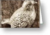 Oldfashioned Greeting Cards - Clay Bird Greeting Card by Carol Leigh
