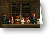 Wooden Bowls Greeting Cards - Clay jugs  Greeting Card by Emanuel Tanjala