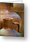 Adobe Greeting Cards - Clay pottery Greeting Card by Carlos Caetano
