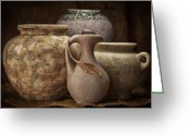 Pottery Photo Greeting Cards - Clay Pottery I Greeting Card by Tom Mc Nemar