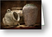 Terra Greeting Cards - Clay Pottery II Greeting Card by Tom Mc Nemar