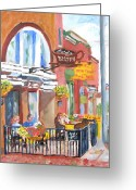 Clayton Painting Greeting Cards - Clayton NY-Lyric Bistro  Greeting Card by Robert P Hedden
