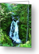National Mixed Media Greeting Cards - Clear Falls - Hidden Beauty Greeting Card by Photography Moments - Sandi