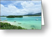 Tropical Climate Greeting Cards - Clear Tropical Lagoon, Ishigaki Island, Okinawa Greeting Card by Ippei Naoi