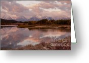 Dramatic Light Greeting Cards - Clearing Storm at Oxbow Bend Greeting Card by Sandra Bronstein
