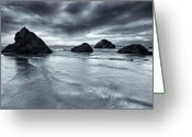 Face Greeting Cards - Clearing Storm Greeting Card by Mike  Dawson
