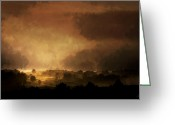Storm Digital Art Greeting Cards - Clearing Storm Greeting Card by Ron Jones